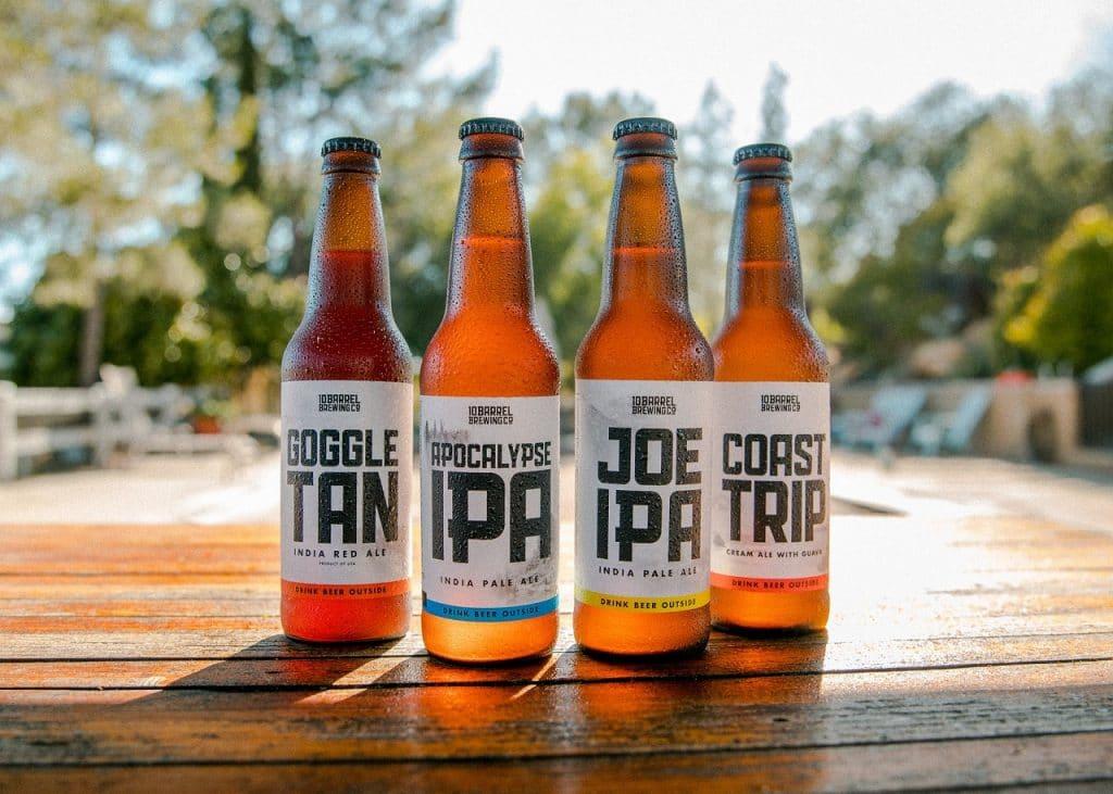 india pale ale beer bottles