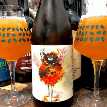 Peach and Nectarine Golder Sour by California Wild ale Beer