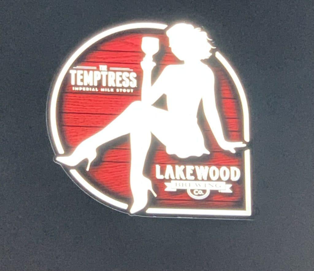 temptress logo lakewood brewing company