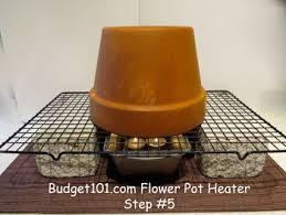 flower pot heater votive candels terra cotta pot